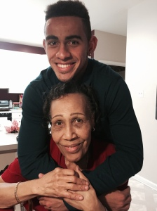 Coby with his Grandma Gladys.